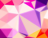 Abstract pink  color shiny low poly bokeh wallpaper Stock Images
