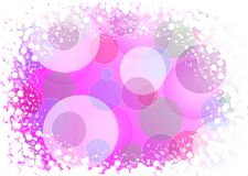 Abstract pink colored background of holiday lights. With white blures stock illustration