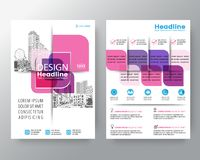 Abstract pink cross graphic element Vector brochure cover flyer poster design layout template in A4 size royalty free illustration