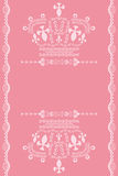 Abstract pink crown background Royalty Free Stock Images