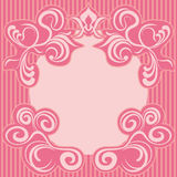 Abstract pink decoration frame Royalty Free Stock Photography