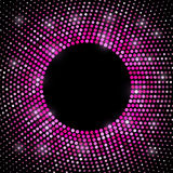 Abstract pink disco halftone  background Stock Photo