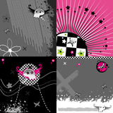 Abstract pink emo backgrounds Stock Photography