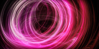 Abstract pink energy circles Royalty Free Stock Image