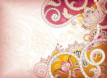 Abstract Pink Floral Royalty Free Stock Photography