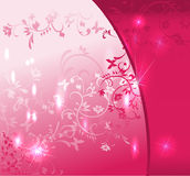 Abstract pink floral background. Illustration Royalty Free Stock Photos