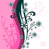 Abstract pink floral background. Abstract vector pink floral background Royalty Free Illustration