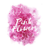 Abstract pink floral background. Abstract pink floral watercolor backdrop. Ideal for wedding design and background for modern calligraphy stock illustration