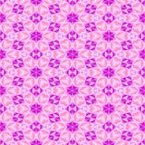 Abstract pink floral mosaic pattern.  Violet tile texture background. Seamless illustration. Stock Photos