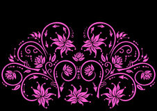 Abstract pink floral ornament Stock Photography