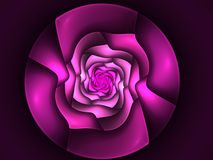 Abstract flower fractal shape Royalty Free Stock Images