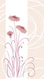 Abstract pink flowers background Stock Photography