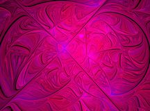 Abstract pink fractal computer generated image Stock Photography