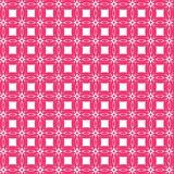 Abstract Pink Geometric Flower Fashion Fabric Background Pattern. Retro Abstract Colorful Geometric Square Textile Fabric Background Pattern  Decorate Vector Stock Image