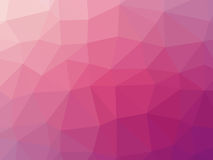 Abstract pink gradient low polygon shaped background.  Stock Photography