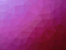 Abstract pink gradient low polygon shaped background.  Stock Images