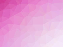 Abstract pink gradient low polygon shaped background.  Stock Photos