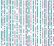 Abstract pink and green lines  seamless pattern. Template Stock Image