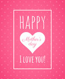 Abstract pink greeting card for Mothers Day.  Stock Photography