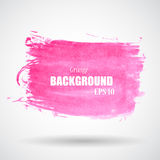Abstract Pink Grunge Splash Banner Vector Royalty Free Stock Photo