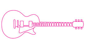Abstract pink guitar Stock Image