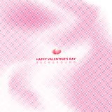 Abstract pink halftone on white background with hearts for valentines day, wedding card. royalty free illustration