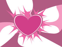 Abstract pink heart. Vector illustration of abstract pink heart Stock Image
