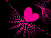 Abstract pink heart background Royalty Free Stock Photo