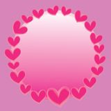 Abstract pink heart  with space for text on pink background Royalty Free Stock Image