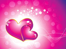 Abstract pink heart wallpaper Royalty Free Stock Photography