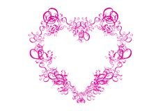 Abstract Pink Heart on White Background Stock Photography