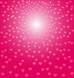 Abstract pink hearts background Stock Images