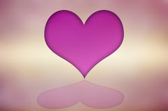 Abstract pink hearts on a pink background. Royalty Free Stock Photos