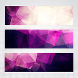 Abstract pink horizontal banners Royalty Free Stock Photo