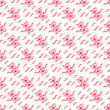 Abstract pink hourglass on a white background seamless pattern vector illustration Stock Images