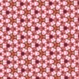 Abstract pink kaleidoscope background texture Stock Images