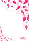Abstract pink leaf background. With place for your text vector illustration