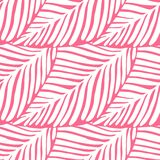 Abstract Pink Leaf Seamless Pattern. Exotic Plant. Tropical Pattern Royalty Free Stock Photography