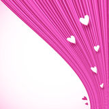 Abstract pink lines background with little hearts Royalty Free Stock Photos
