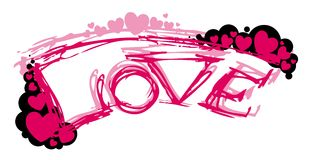 Abstract pink love Stock Image