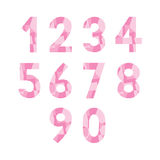 Abstract pink numbers1. Abstract pink numbers for design Royalty Free Stock Image