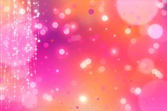 Abstract pink and orange bokeh background. Abstract pink and orange bokeh and glitter background Stock Photography