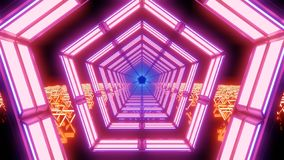 Abstract pink and orange lights and forms royalty free stock image