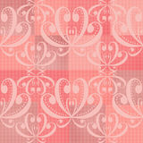 Abstract pink ornament seamless pattern. Background Stock Photos