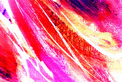 Abstract Pink Painting By Oil On Canvas Royalty Free Stock Images
