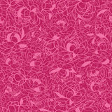 Abstract Pink Plants Seamless Pattern Background. Vector Abstract Pink Plants Seamless Pattern Background with modern floral texture stock illustration
