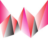 Abstract pink  polygon Stock Photography