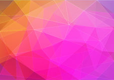 Abstract pink polygonal geometric background made of triangles. Stock Photography