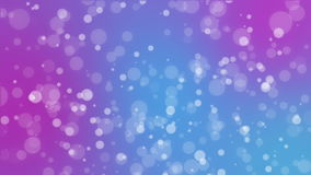 Abstract pink purple blue holiday background with animated bokeh lights. Glowing abstract holiday background with white bokeh lights flickering on pink purple stock video footage