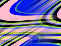Pink blue black lines background, abstract colorful geometries. Abstract pink purple blue sparkling lines, lights, contrasting forms and sparkling shapes, vivid stock illustration